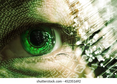 man eye and electronic circuit technology