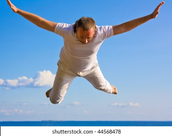 Man falling from the skies
