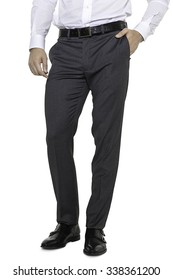 Man fashion grey pants and shoes