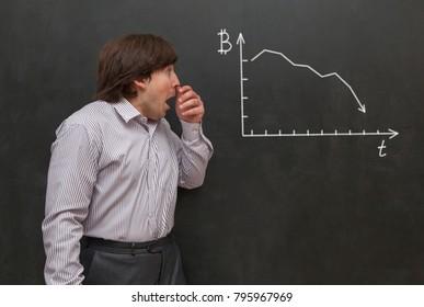 Man fearing of bitcoin crisis