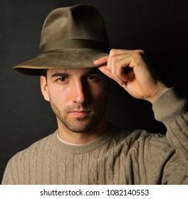 man in fedora
