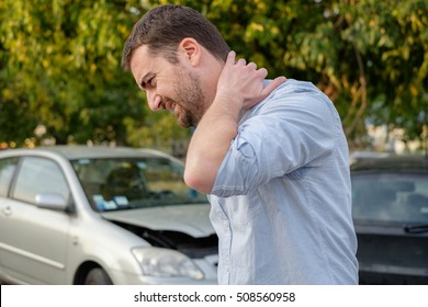 Man feeling bad after a car accident injury