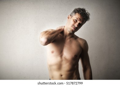man feeling numb in his muscles