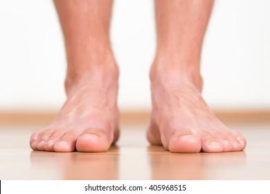 Homem pés close-up