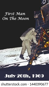 man first walked on the moon on july 20th, 1969 (some elements courtesy of nasa)