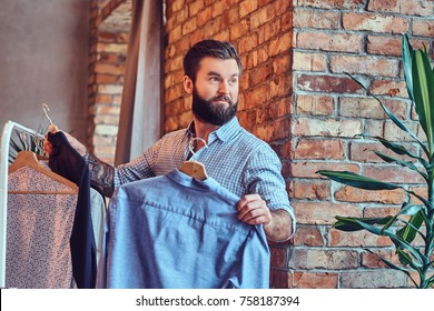 A man fit on fashionable shirts.