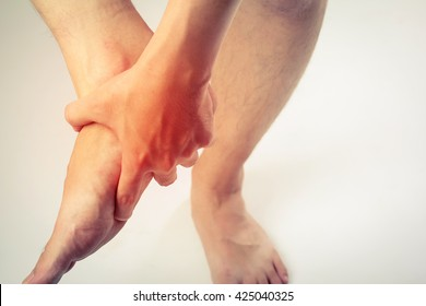 man foot pain