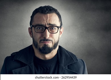 Man with Frustrated Expression