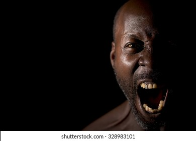 Man Frustrated and Shouting