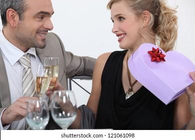 Man full of romantic gestures