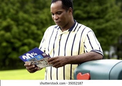 Man getting mail