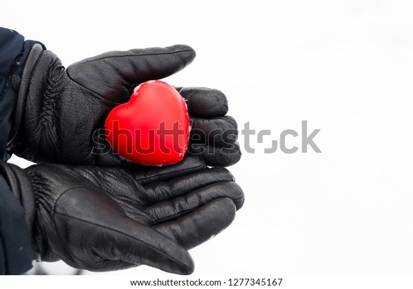 Man Give His Love Heart Valentines Stock Photo (Edit Now