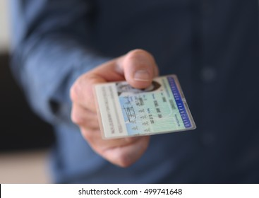 Man gives his identity card