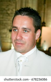 man groom in church in wedding day