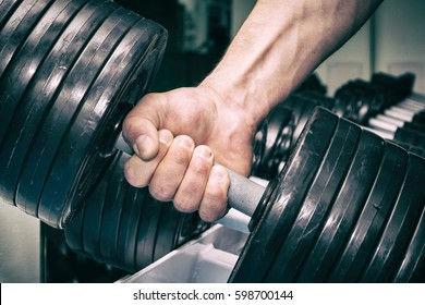 The man in the gym