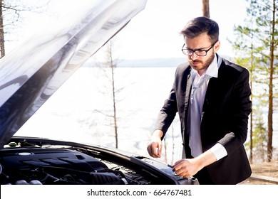 Man had a car breakdown