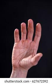 Man Hand   black background