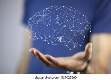 man hand  brain