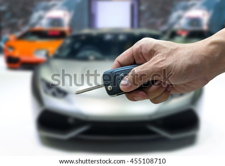 Man Hand Holding Car Key Remote Stock Photo Edit Now 455108710