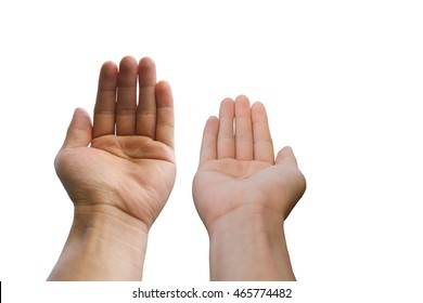 man hand isolated on white background