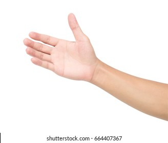 Man hand isolated on white background with clipping path, health care and medical concept