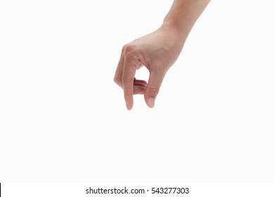 man hand on white backgrounds, finger picking pose