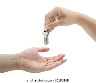 man handing over the set of keys house