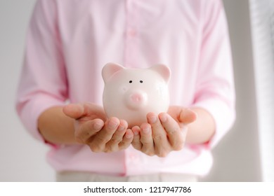 Big And Small Piggy Bank Stock Photos Images Photography