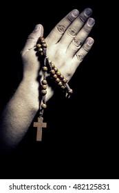 Man hands in prayer.