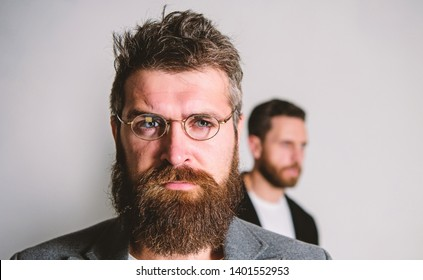 Man handsome bearded hipster wear eyeglasses. Eye health and sight. Optics and vision concept. Eyeglasses accessory for smart appearance. Wise glance. Hipster style and fashion. Hipster eyeglasses.