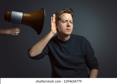 Man is hard of hearing