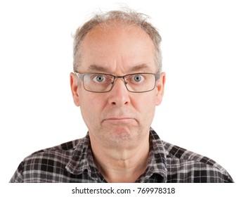 Man has a poker face