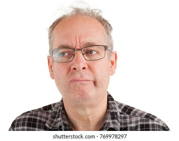 Man has serious doubt about something