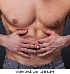 Man has stomach pain
