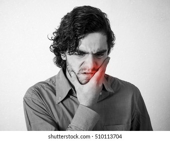 Man has a tooth ache