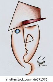 A man in a hat