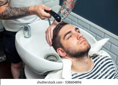 Man having hair dress