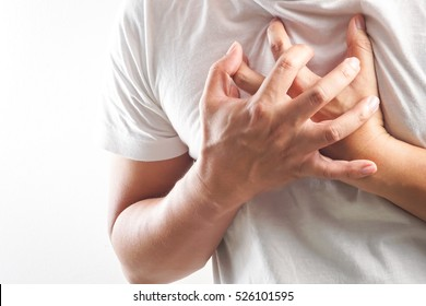 Man having a heart attack