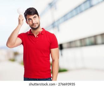 man having idea