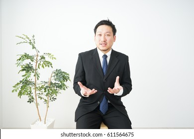 Man having a job interview for a mid career recruitment