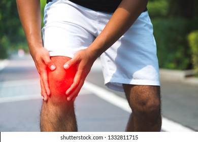 Man having knee pain.