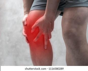 Man having pain in his knee, Health care