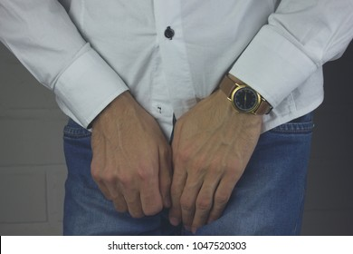 Man having a problem with his penis