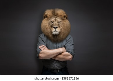 Man with head of a lion.