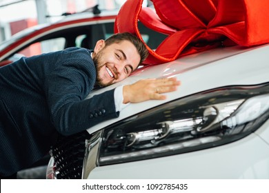 Man with his lovely car.