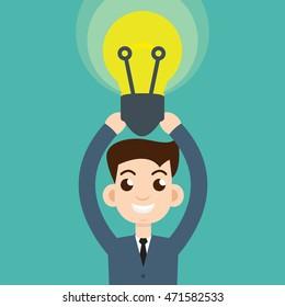 man hold bulb
