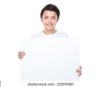 Man hold with white board