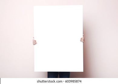holding poster images stock photos vectors shutterstock