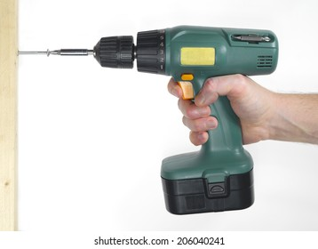 man holding a electric drill