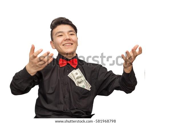 man holding a money
